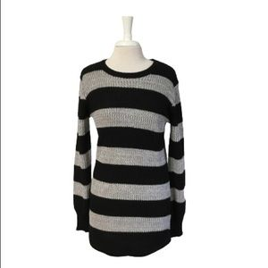 Altar'd State Sweater Tunic Length Black Grey M